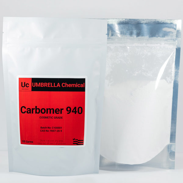 Umbrella Chemical Carbomer 940 front and back